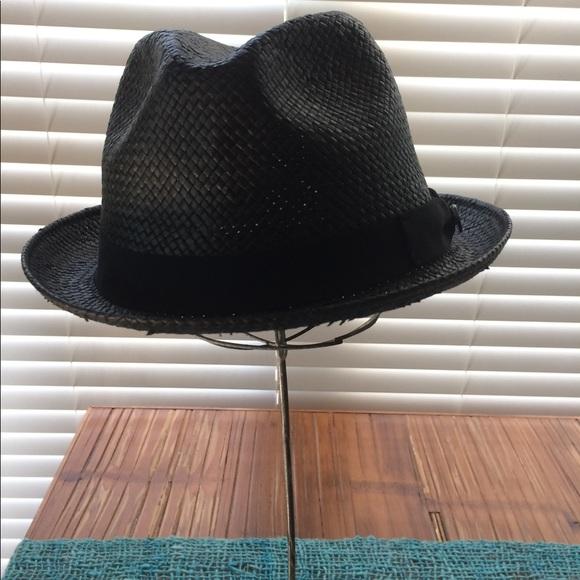 Hats In The Belfry Accessories Black Straw Fedora Medium Poshmark